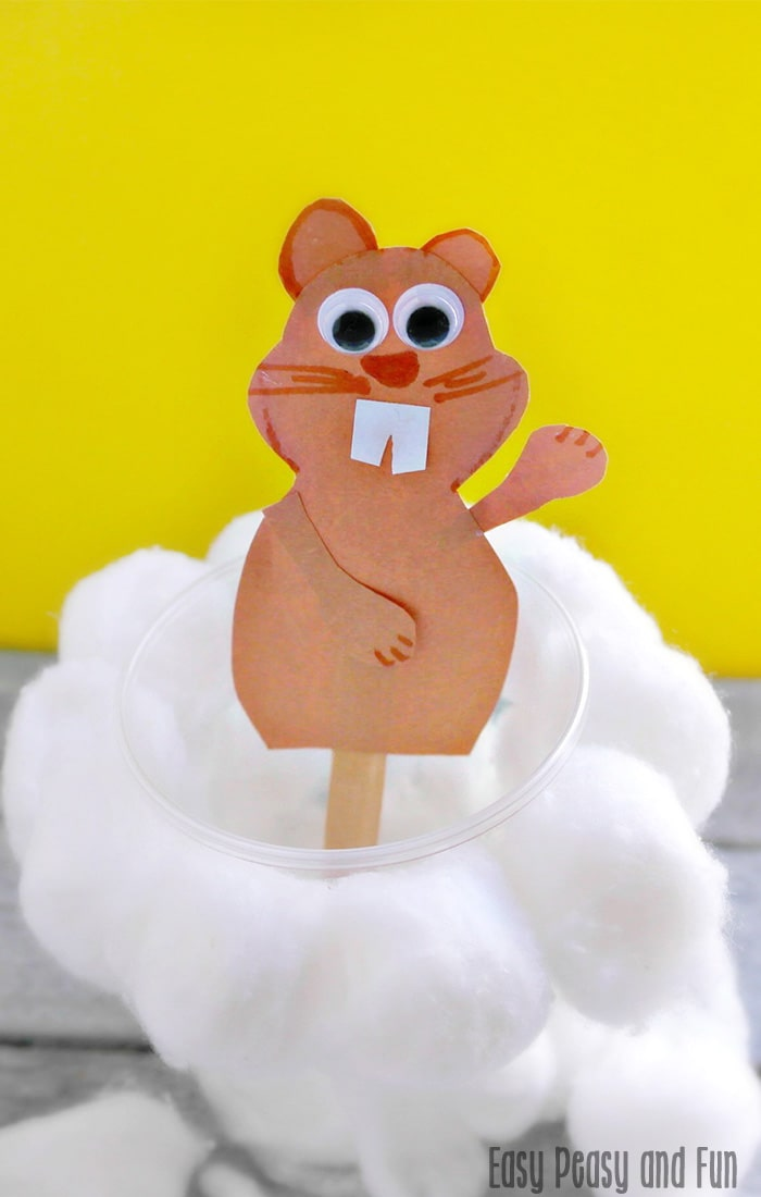Simple groundhog day craft easy peasy and fun
