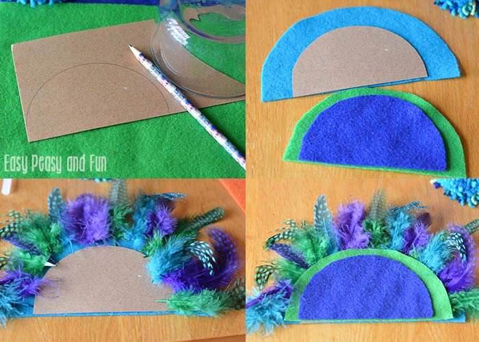 pom pom peacock craft pom pom peacock craft pom pom crafts easy peasy and 5233