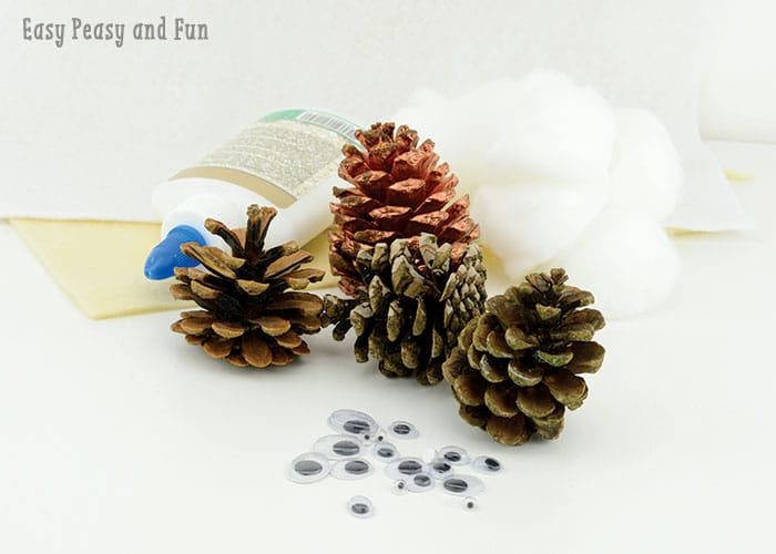 Owl Crafts with Pinecones