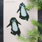 Penguin Footprint Craft to Make With Your Kids
