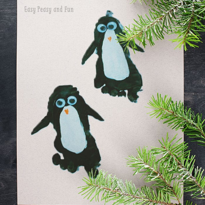 Penguin Footprint Craft