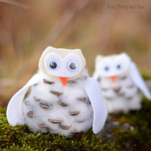 Pinecone Winter Owls Craft for Kids