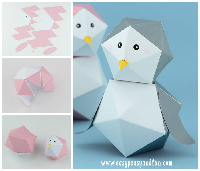 Printable Penguin Paper Toy
