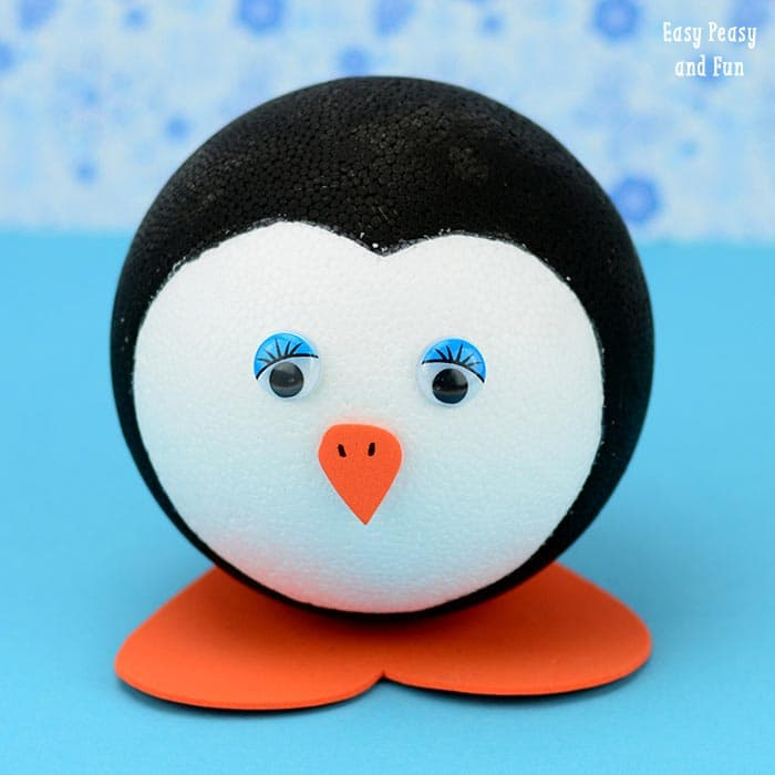 Round Penguin Craft For Kids