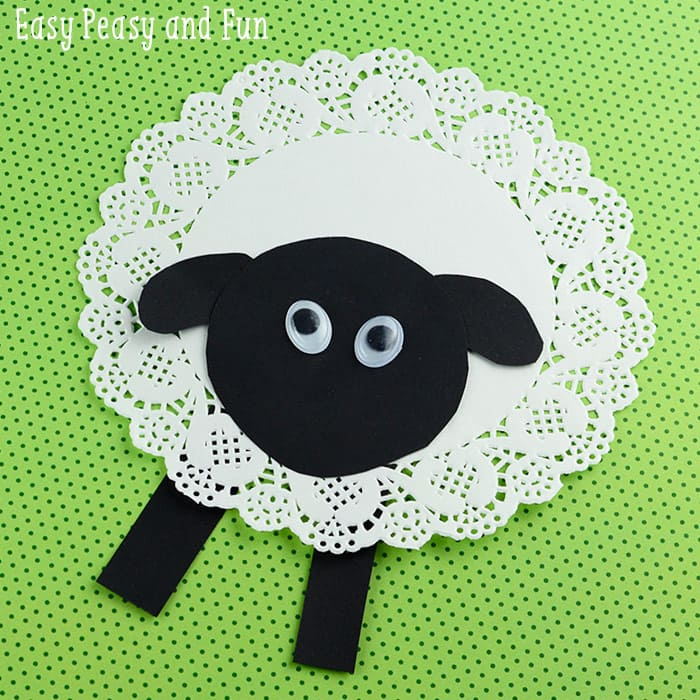 Doily sheep craft easy peasy and fun