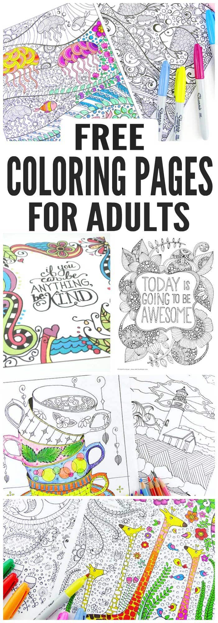 Free easy coloring pages for adults think