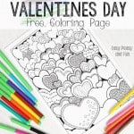 Hearts Valentines Day Coloring Page for Adults