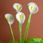 Cotton Round and Q-Tip Calla Lily Flowers