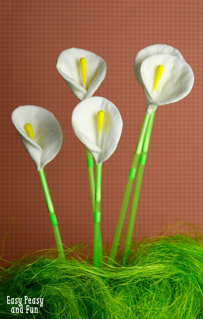 cotton round and qtip calla lily flowers craft - Calla Lily Flower