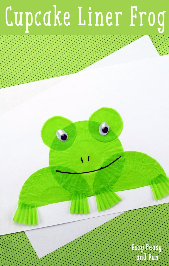 frog corner bookmarks cupcake liner frog craft easy peasy and 2054