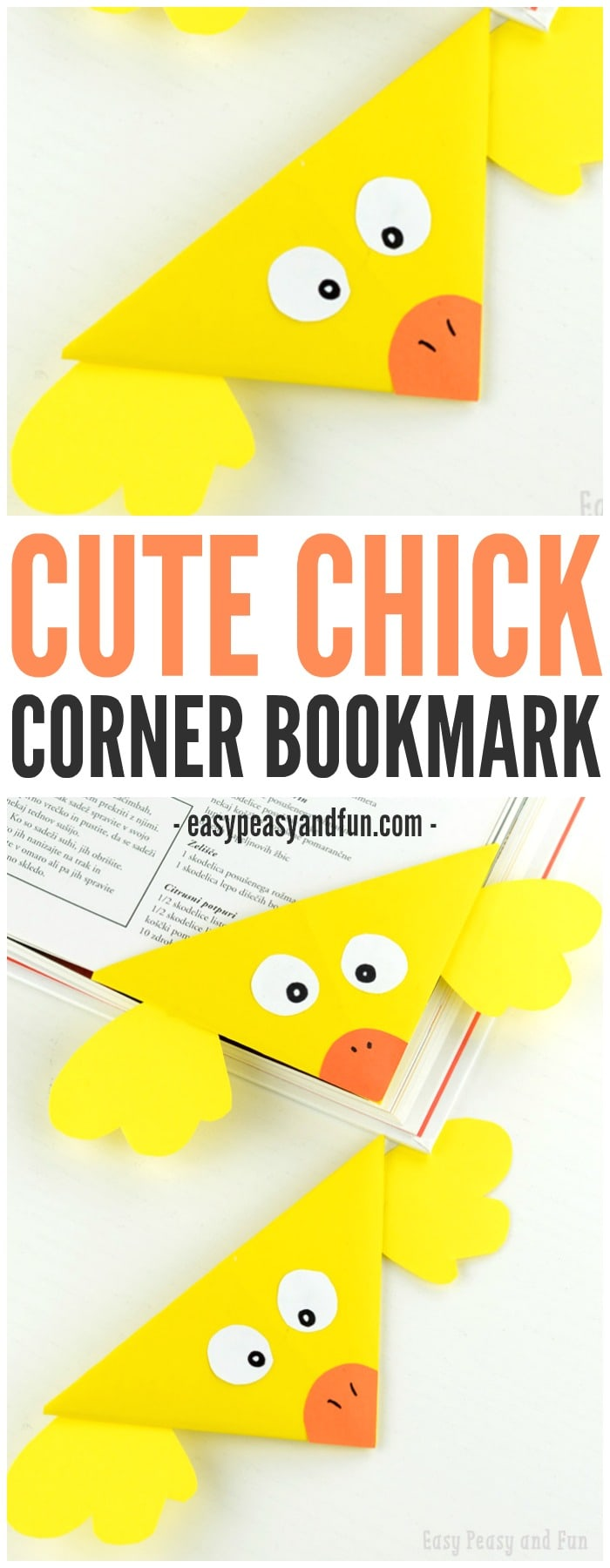 Cute Chick Corner Bookmark Origami for Kids