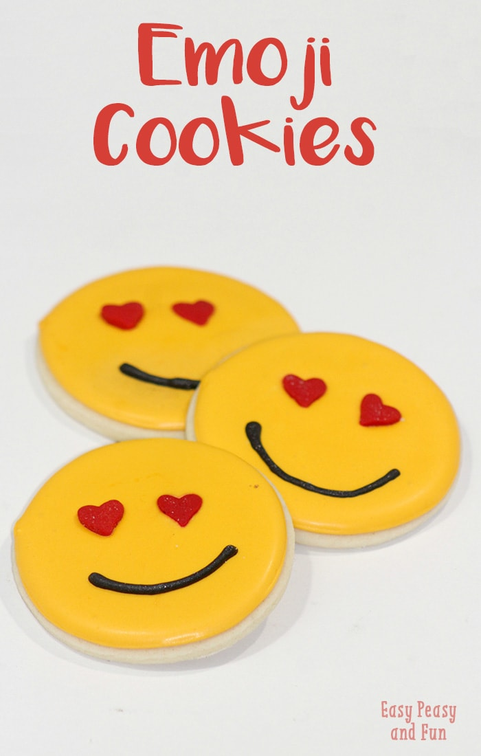 Emoji Sugar Cookies, a fun treat for Valentines day