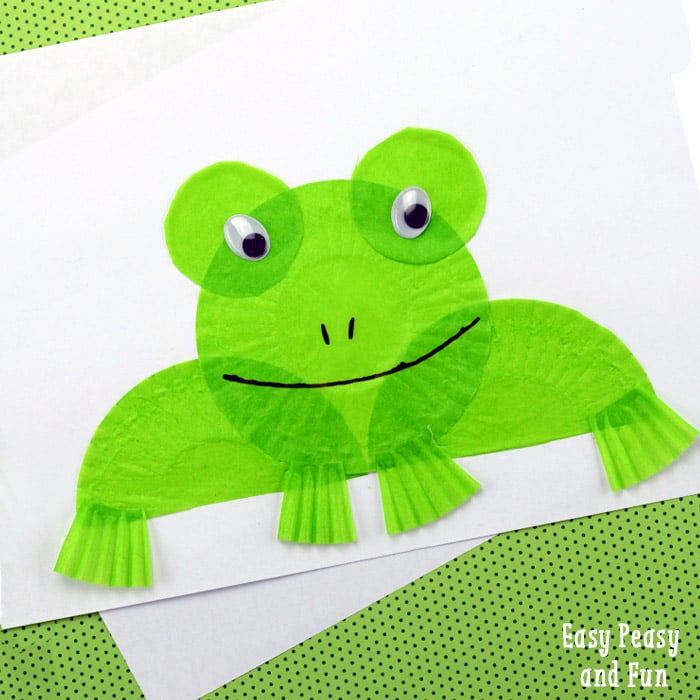 Frog Craft from Cupcake Liners