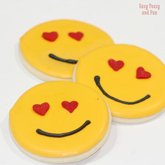 Heart Smile Emoji Sugar Cookies