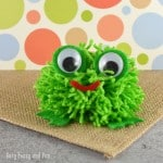 Simple Frog Pom Pom Craft (tutorial)