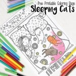 Sleeping Cats Coloring Page – Coloring Pages for Adults