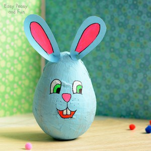 Wobbling Papier Mache Bunny – Easter Crafts for Kids