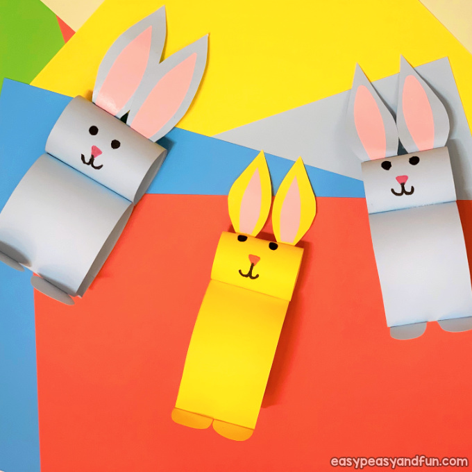 Paper Bunny Craft Easy Easter