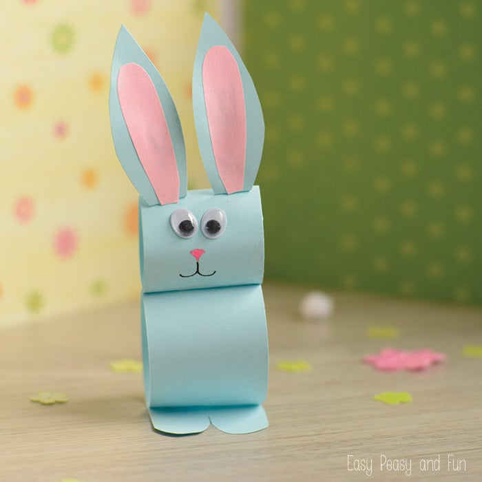 Paper Bunny Craft Easy Easter Craft For Kids Easy Peasy And Fun