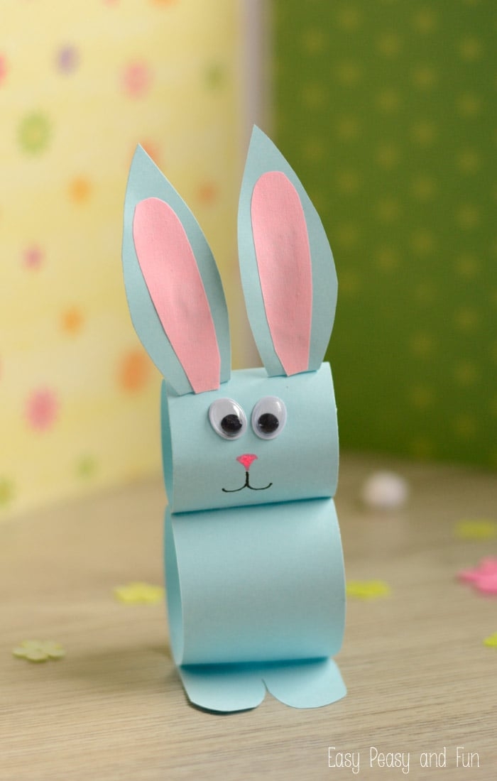 Paper bunny craft easy easter craft for kids easy for Art and craft with paper easy