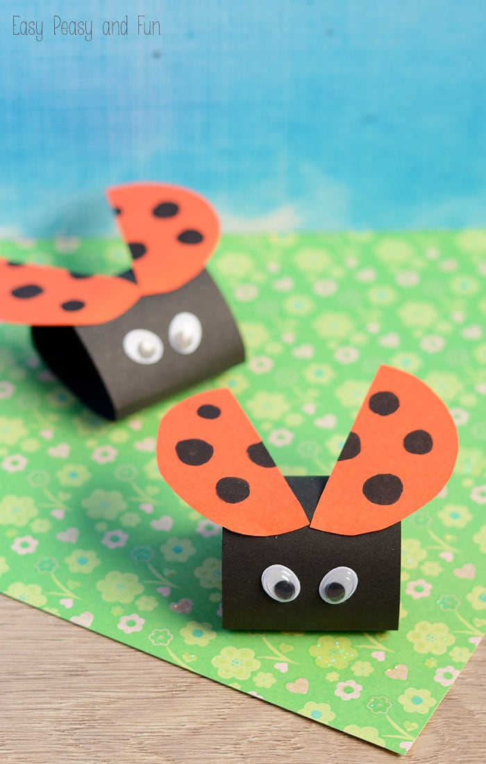 Simple ladybug paper craft easy peasy and fun for How to make craft