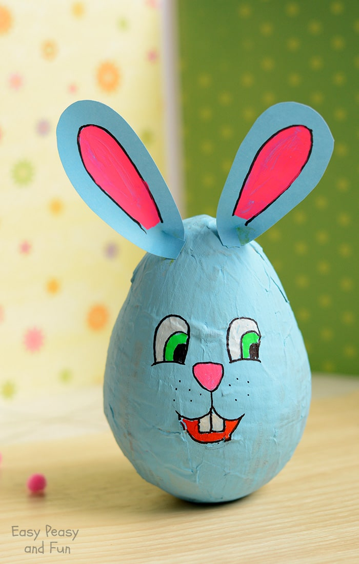 Papier Mache Bunny Easter Crafts for Kids