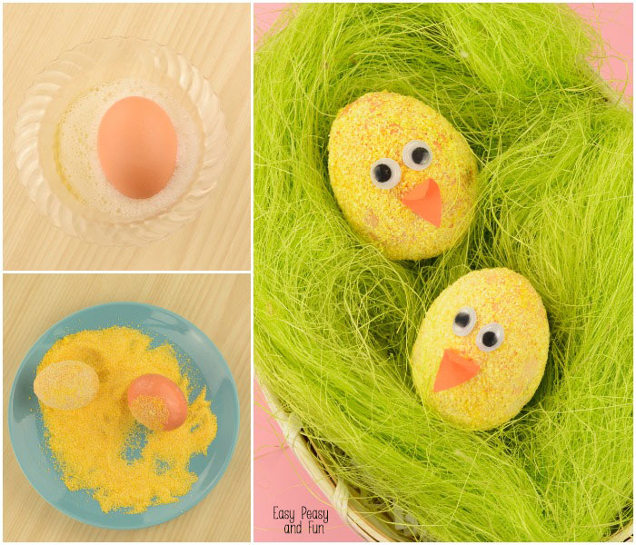 Polenta Chicks - A Fun Way to Decorate Easter Eggs