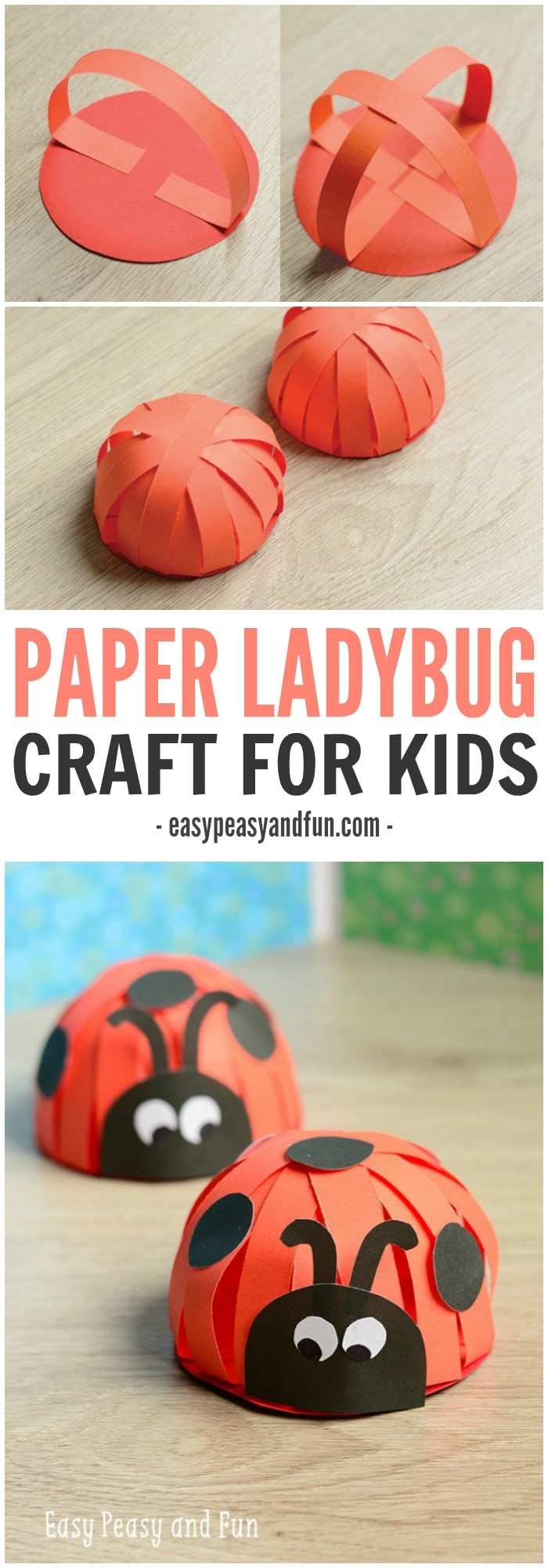 Easy Peasy And Fun: Paper Ladybug Craft