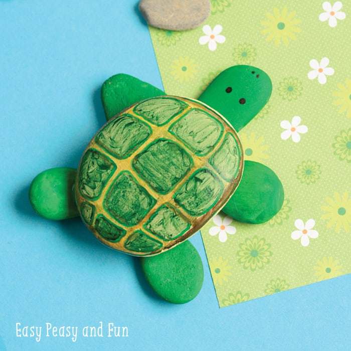 Cool Rock Craft - Painted Turtle