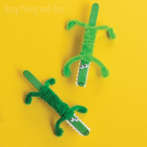 Cute Little Crocodile Craft - Craft Stick Crafts