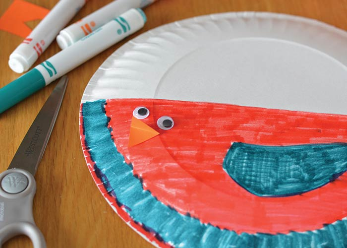 Paper Plate Bird Craft  Paper Plate Crafts  Easy Peasy and Fun