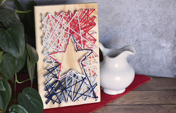 String Art Star Yarn Crafts for