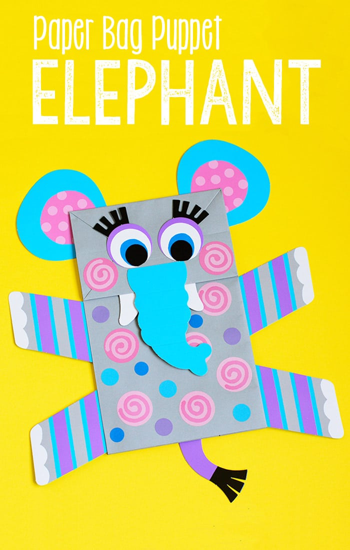 Elephant Paper Bag Puppet - Fun Craft for Kids to Make and Play With