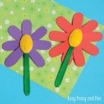 Flower Craft for Kids - Wooden Spoon Crafts