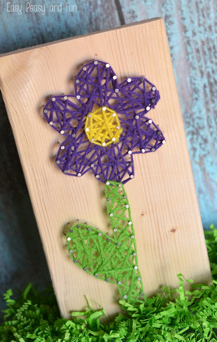 flower string art string art for kids easy peasy and fun