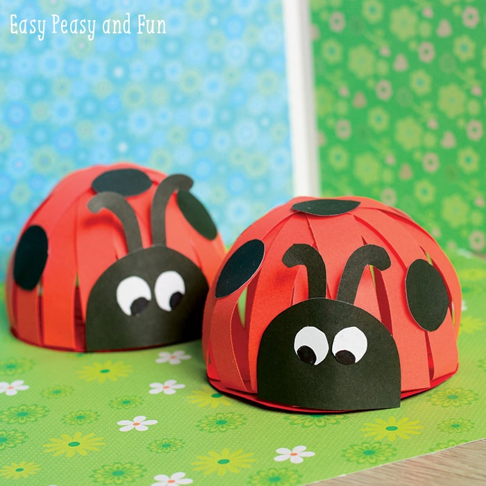 Paper ladybug craft easy peasy and fun for Ladybug arts and crafts