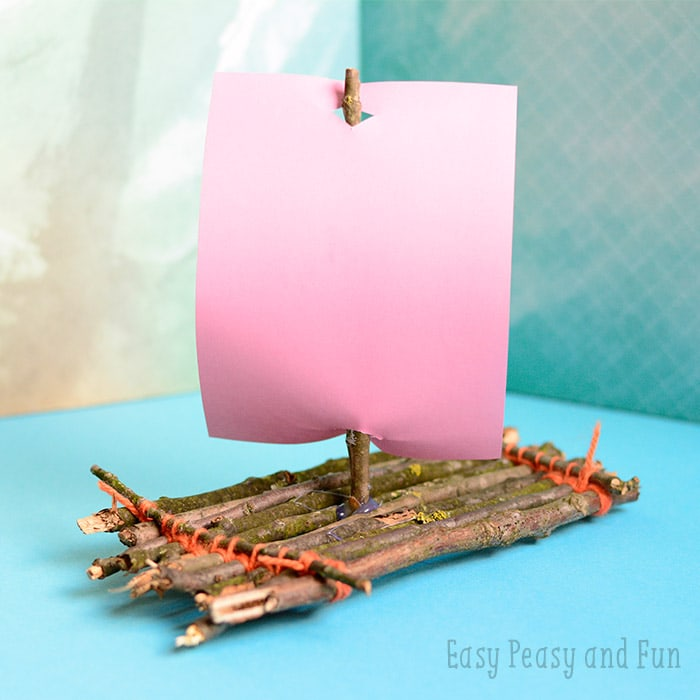 Make a twig boat - a fun nature craft for kids