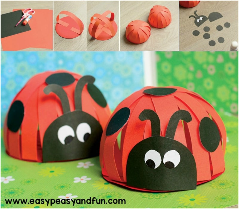 Paper Ladybug Craft & Paper Ladybug Craft - Easy Peasy and Fun