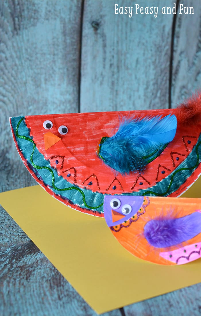 Paper plate bird craft paper plate crafts easy peasy for Craft made by paper