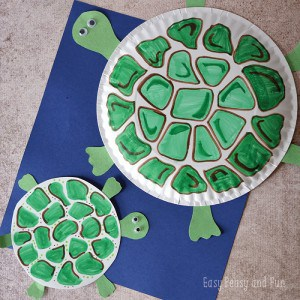 Paper Plate Crafts for Kids - Turtle