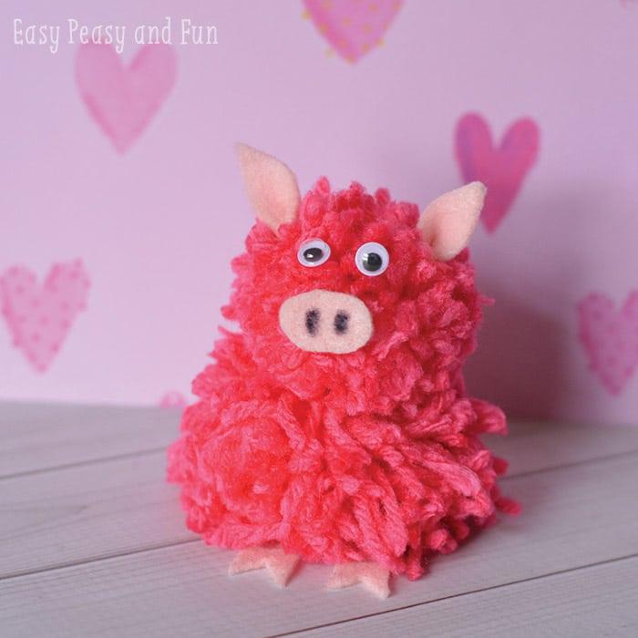 Pom Pom Craft - Pig