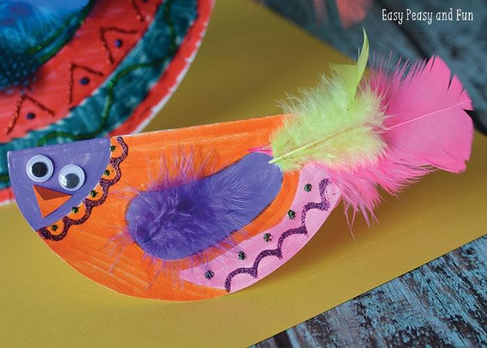 Small Paper Plate Bird Craft & Paper Plate Bird Craft - Paper Plate Crafts - Easy Peasy and Fun