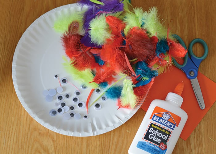 Supplies for Bird Craft & Paper Plate Bird Craft - Paper Plate Crafts - Easy Peasy and Fun