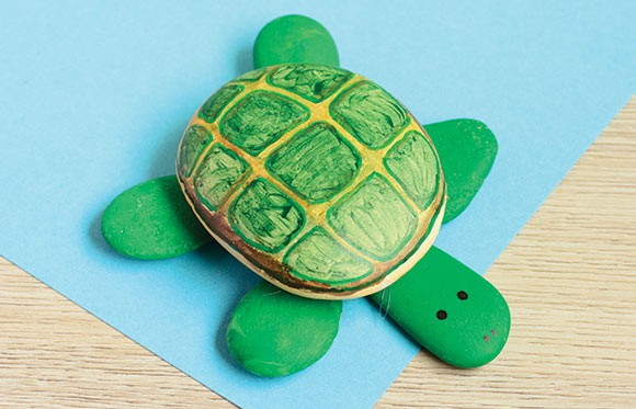 Rock Turtle Craft Easy Peasy