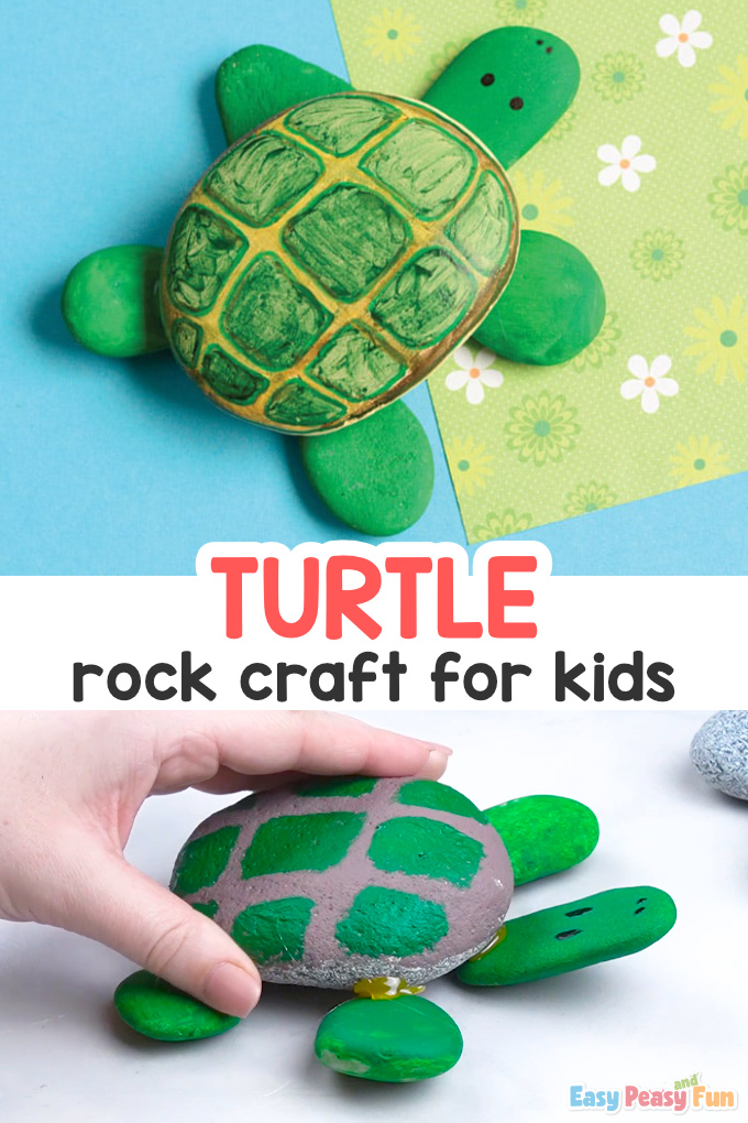 Turtle Rock Craft for Kids - Rock Art Idea for Kids