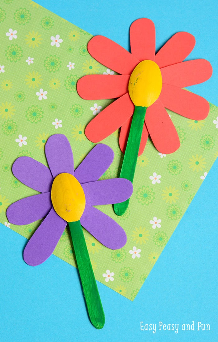Wooden Spoon Flower Craft for Kids