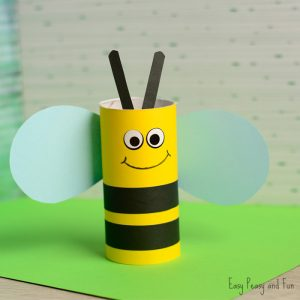 Cute Toilet Paper Roll Bee Craft