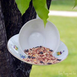 DIY Teacup Birdfeeder Craft for Little Ones