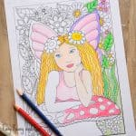 Fairy coloring page for grown ups