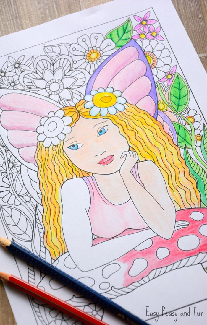 photo regarding Printable Fairies Coloring Pages titled Minor Fairy Coloring Webpage - Simple Peasy and Exciting